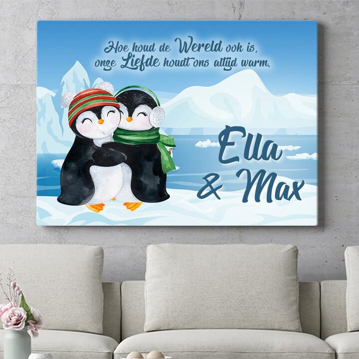 Personaliseerbaar cadeau Pinguins