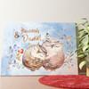 Gepersonaliseerde muurschildering Knuffel Uilen