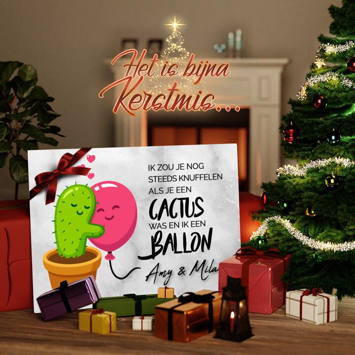 Canvas Cadeau Cactus Balonnen