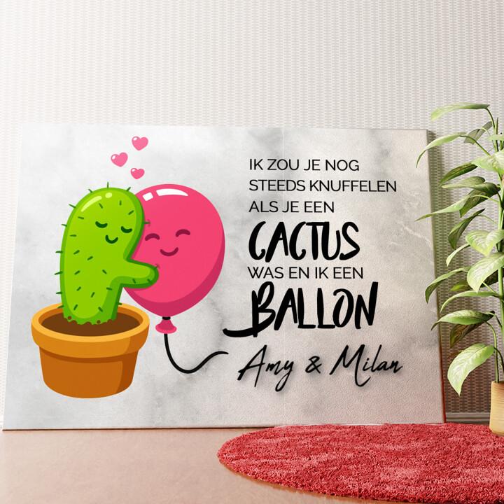 Gepersonaliseerde muurschildering Cactus Balonnen