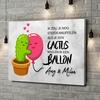 Gepersonaliseerde canvas print Cactus Balonnen