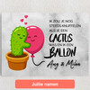 Gepersonaliseerde Canvas Cactus Balonnen
