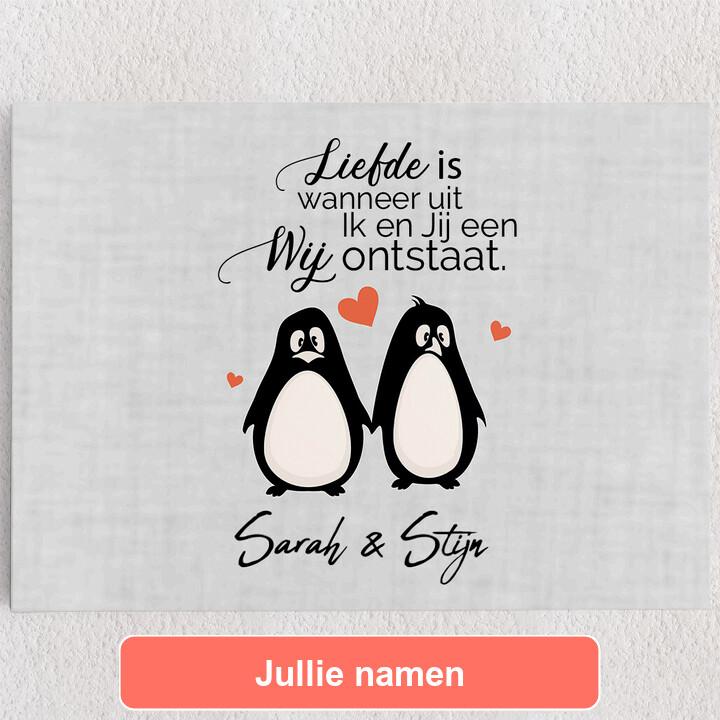 Gepersonaliseerde Canvas Stel Pinguins