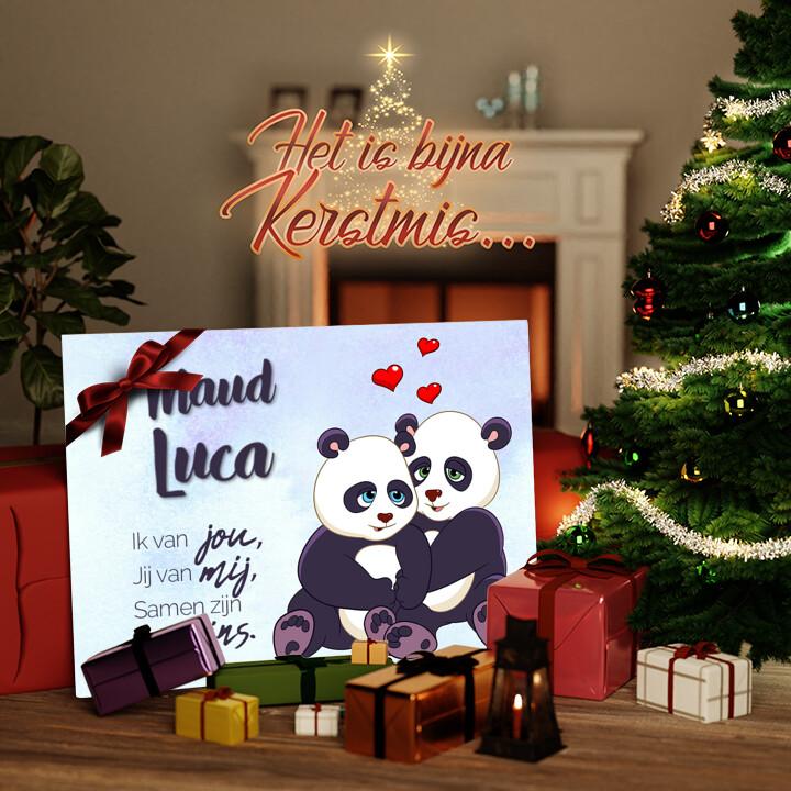 Canvas Cadeau Panda's