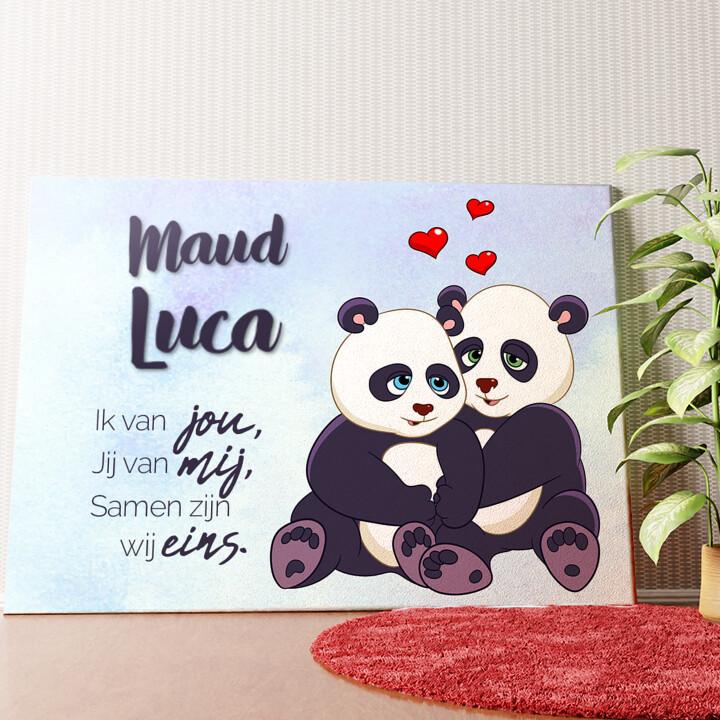 Gepersonaliseerde muurschildering Panda's
