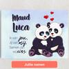 Gepersonaliseerde Canvas Panda's