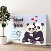 Panda's Gepersonaliseerde muurschildering
