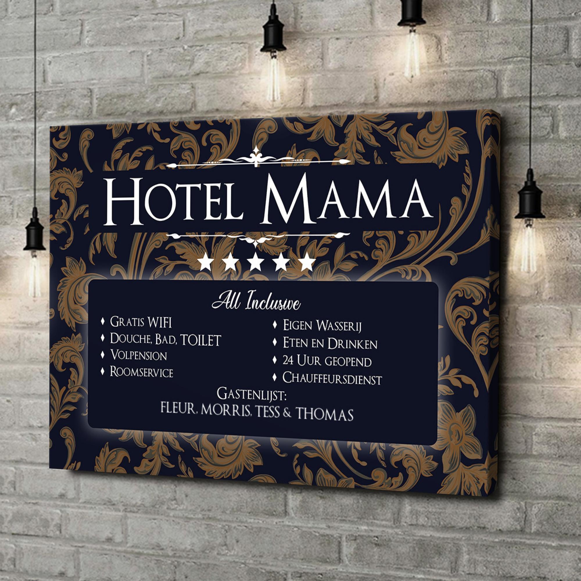 Gepersonaliseerde canvas print Hotel Moeder