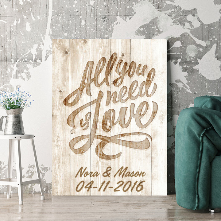 Personaliseerbaar cadeau Liefde is Alles wat je Nodig hebt