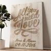 Liefde is Alles wat je Nodig hebt Gepersonaliseerde muurschildering