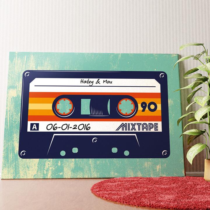 Gepersonaliseerde muurschildering Mixtape
