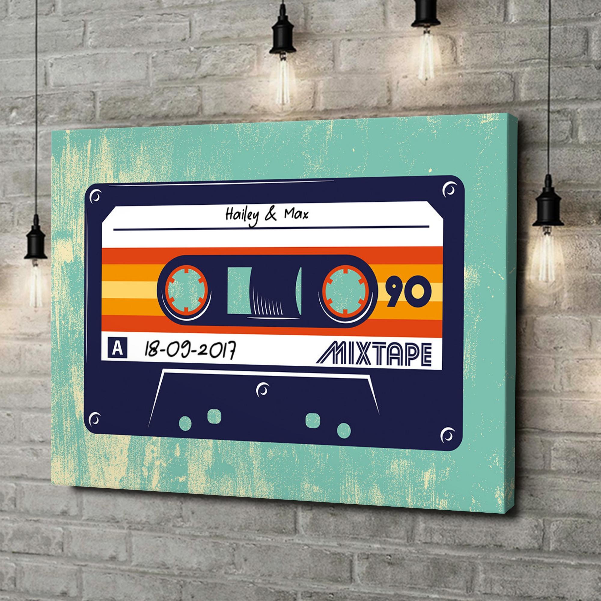 Gepersonaliseerde canvas print Mixtape