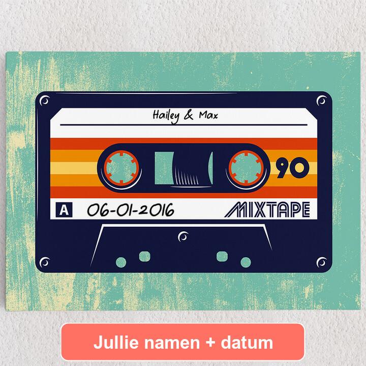 Gepersonaliseerde Canvas Mixtape