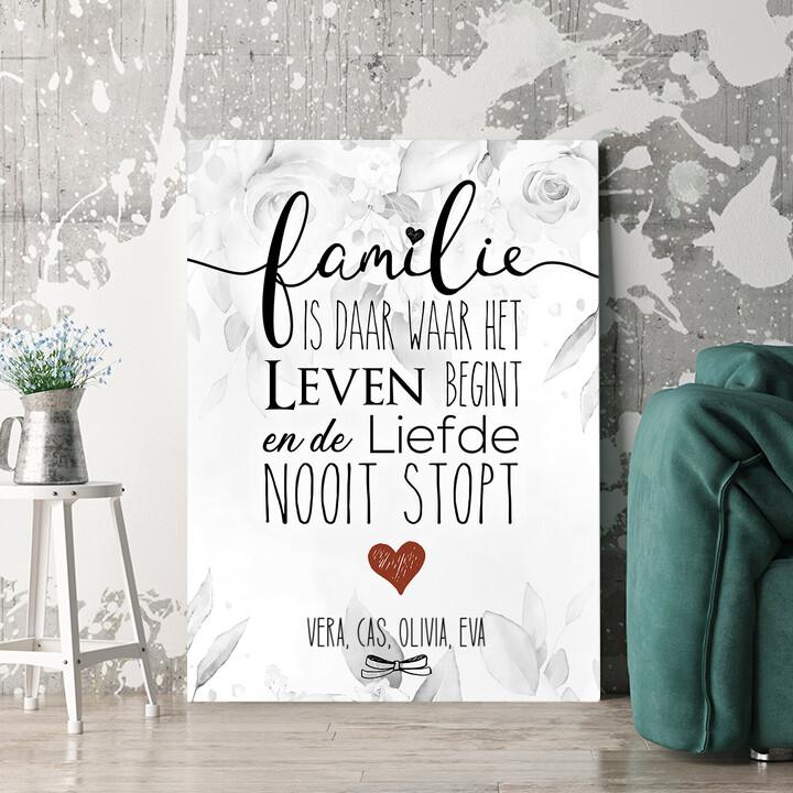 Personaliseerbaar cadeau Familie