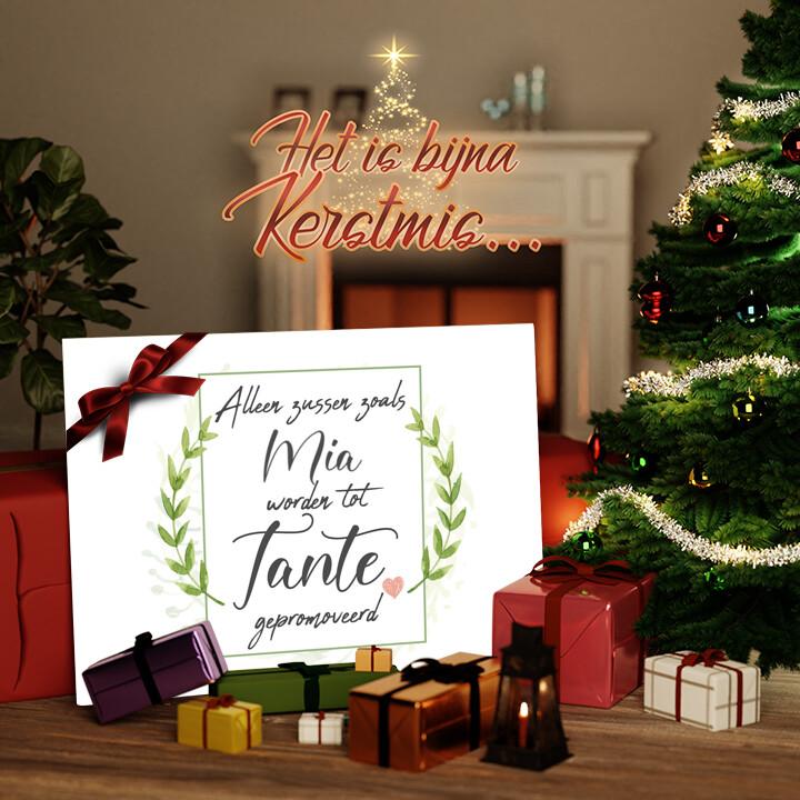 Canvas Cadeau Zus wordt tante
