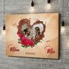 Gepersonaliseerde canvas print Onze chocolade-kant