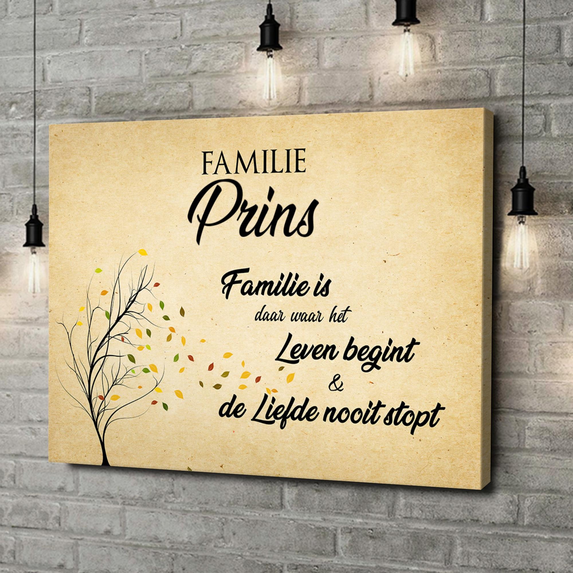 Gepersonaliseerde canvas print Familieleven