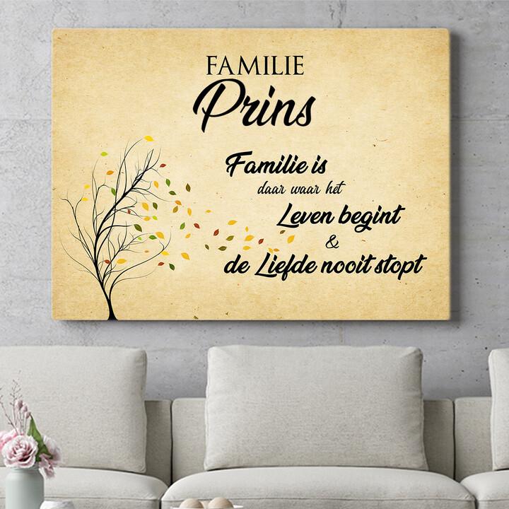 Personaliseerbaar cadeau Familieleven