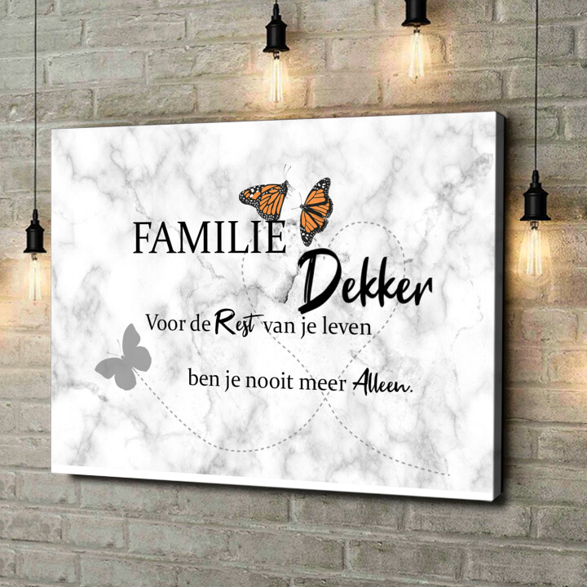 Gepersonaliseerde canvas print Vlinder
