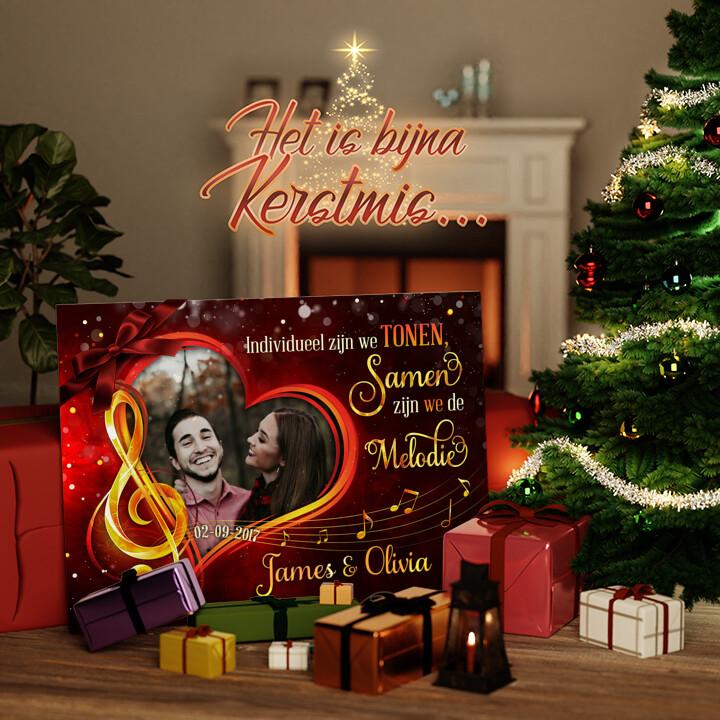 Canvas Cadeau Melodie van Liefde