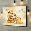 Gepersonaliseerde canvas print Luiaard gezin