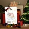 Canvas Cadeau Canvas voor geboorte beer droomt