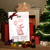 Canvas Cadeau Canvas voor geboorte konijn met ballon