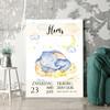 Personaliseerbaar cadeau Canvas voor geboorte olifant droomt