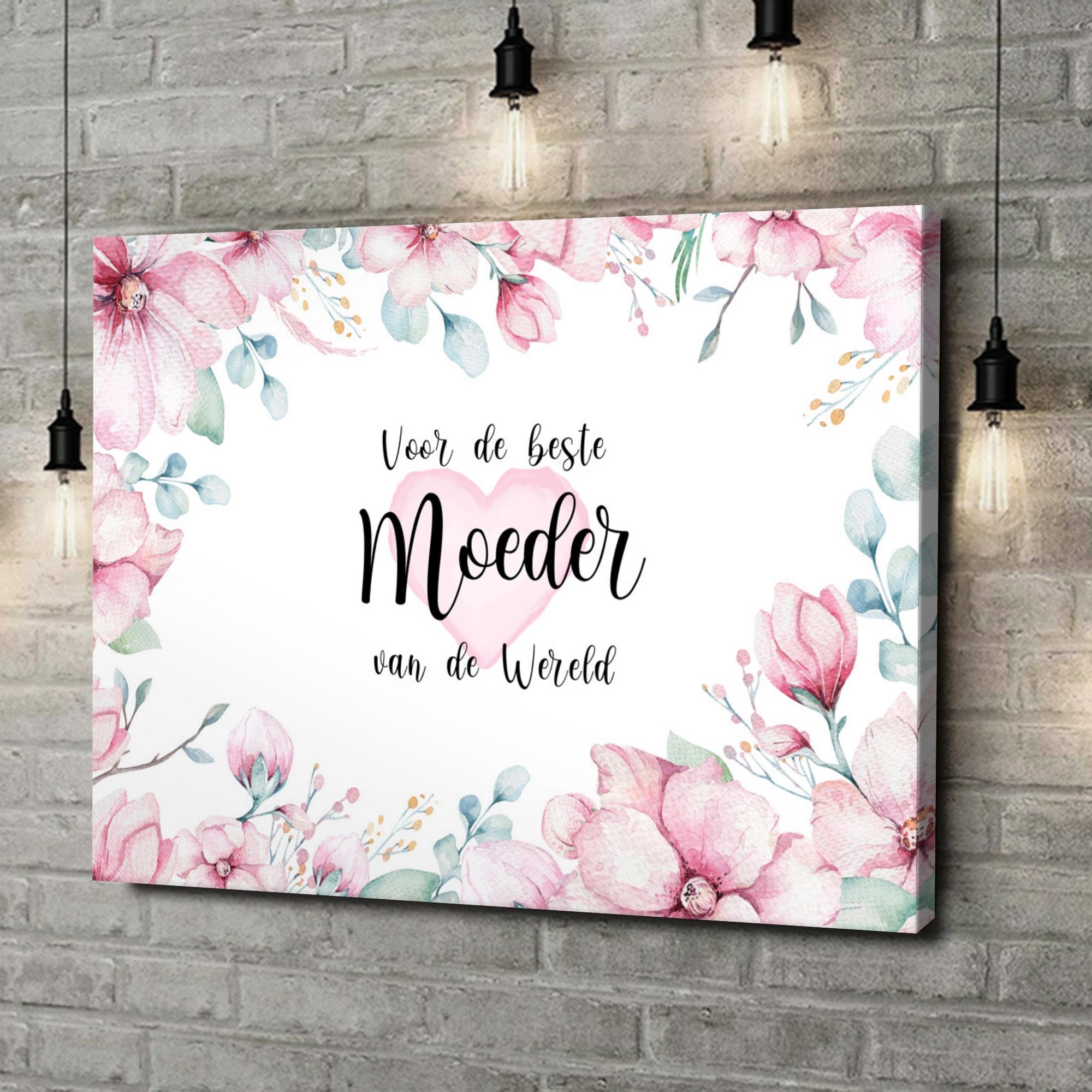 Gepersonaliseerde canvas print Beste Moeder