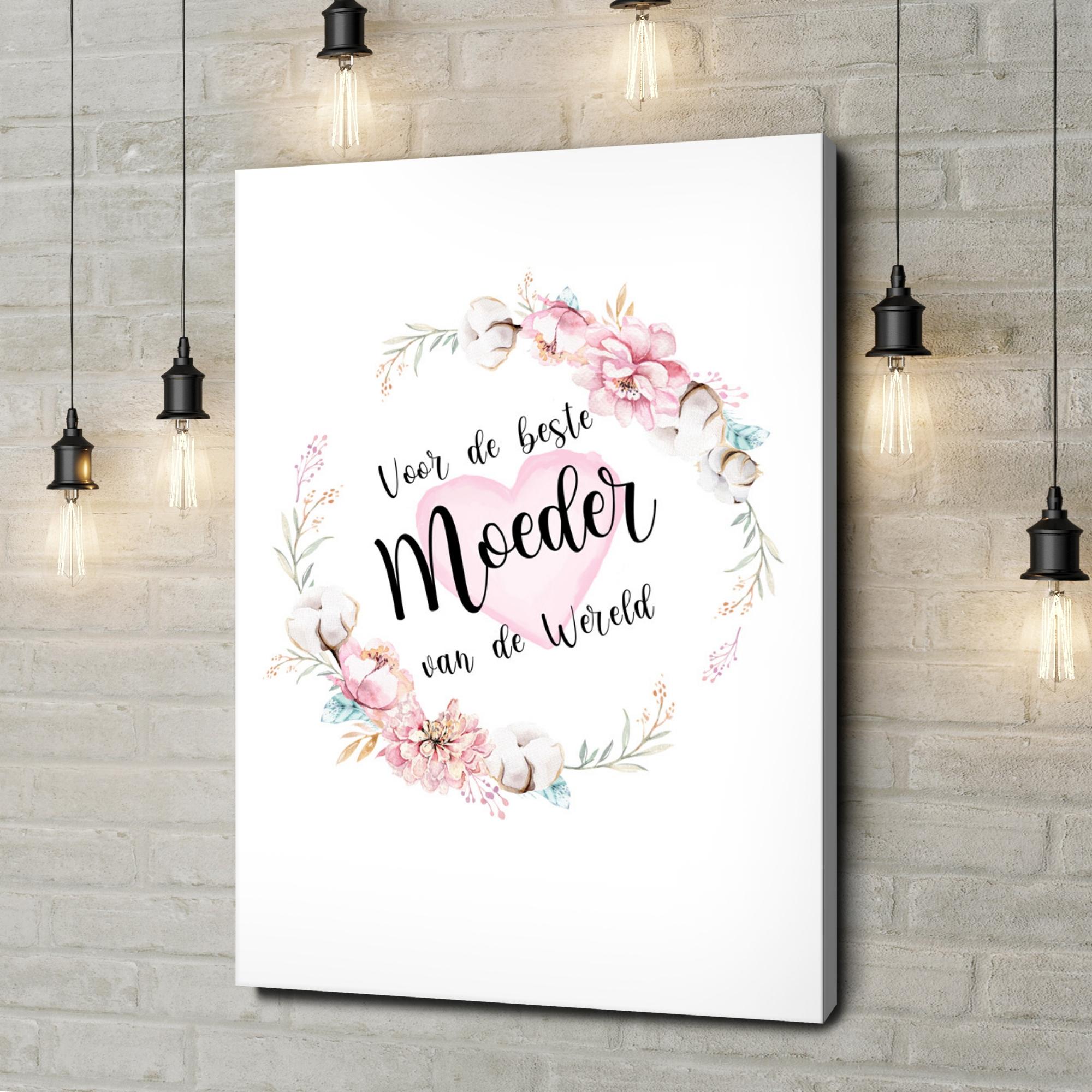 Gepersonaliseerde canvas print Voor moederdag