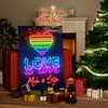 Canvas Cadeau Liefde is Liefde