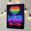 Gepersonaliseerde canvas print Liefde is Liefde