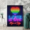 Personaliseerbaar cadeau Liefde is Liefde