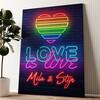 Liefde is Liefde Gepersonaliseerde muurschildering