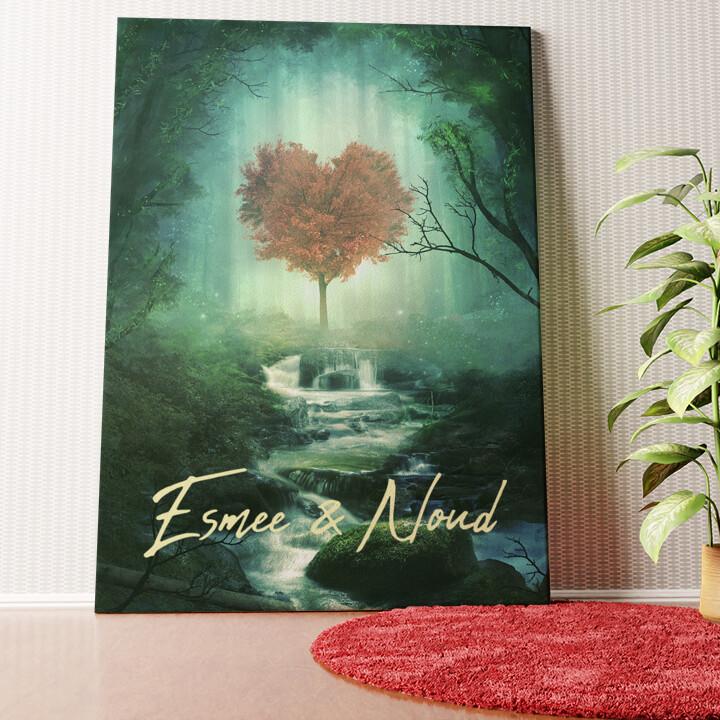 Gepersonaliseerde muurschildering Mystieke liefde