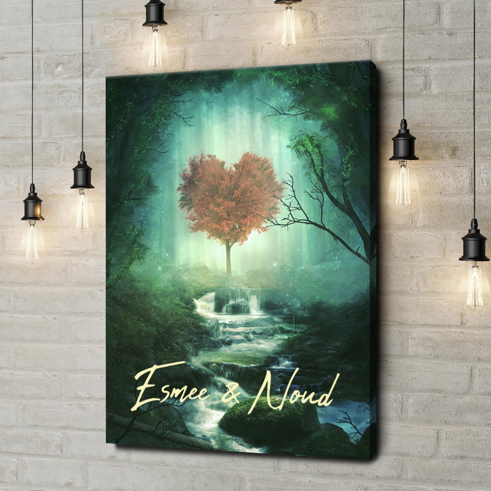 Gepersonaliseerde canvas print Mystieke liefde