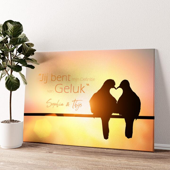 Liefdes Vogels Gepersonaliseerde muurschildering