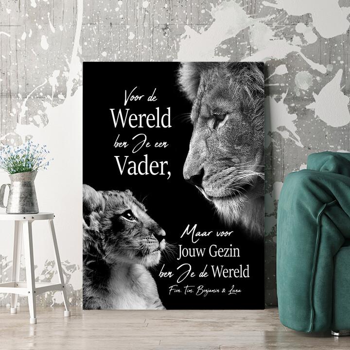 Personaliseerbaar cadeau Leeuwenvader