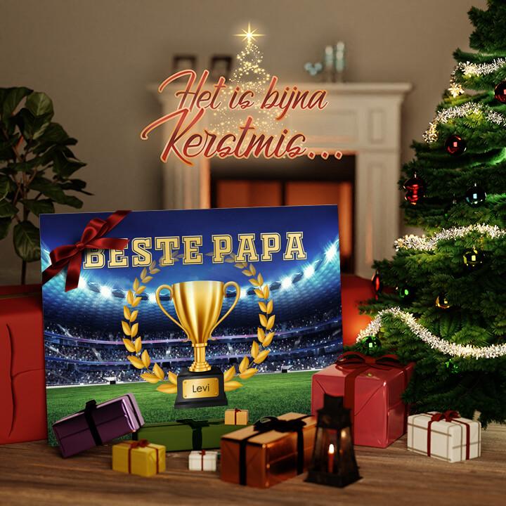 Canvas Cadeau De beste Vader