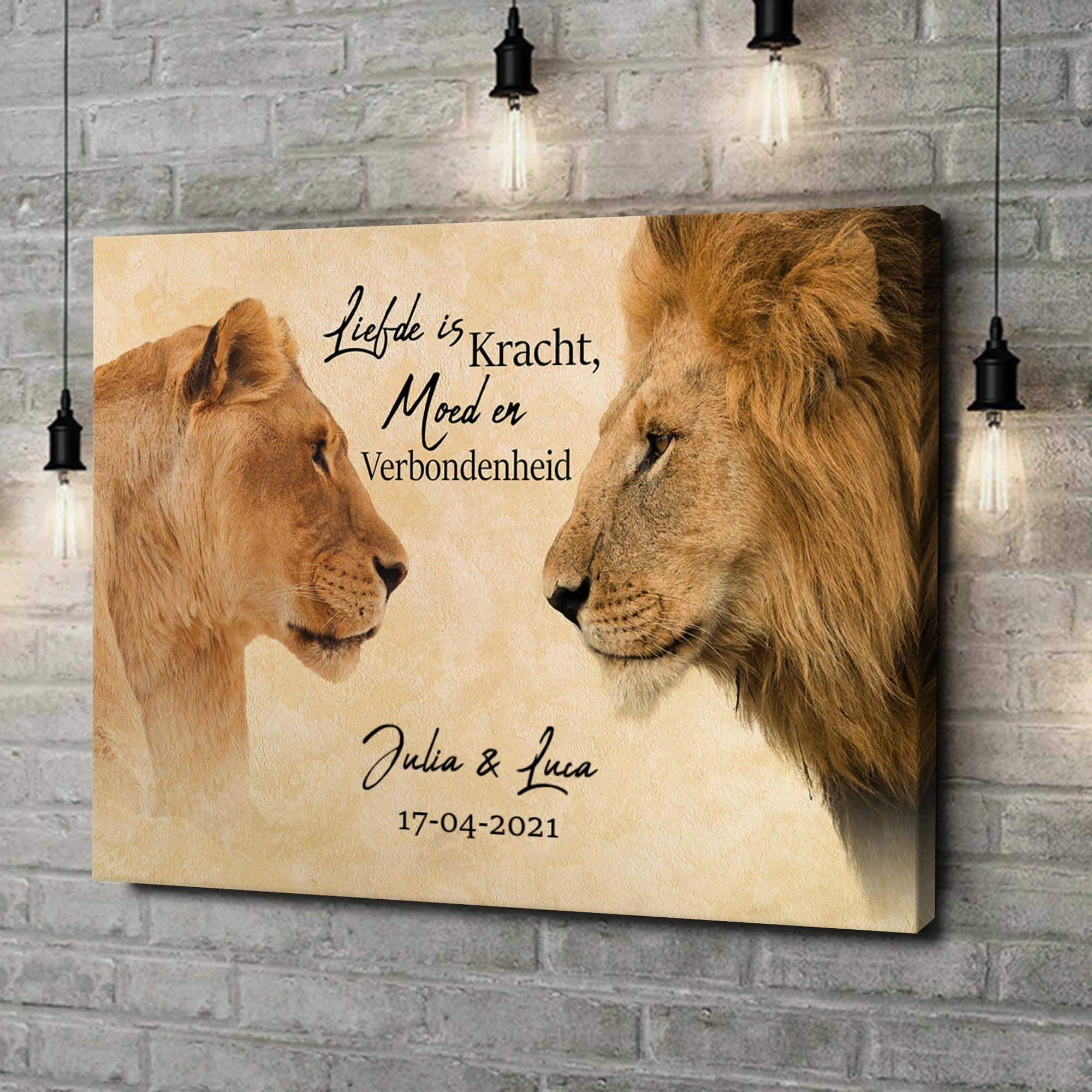 Gepersonaliseerde canvas print King & Queen