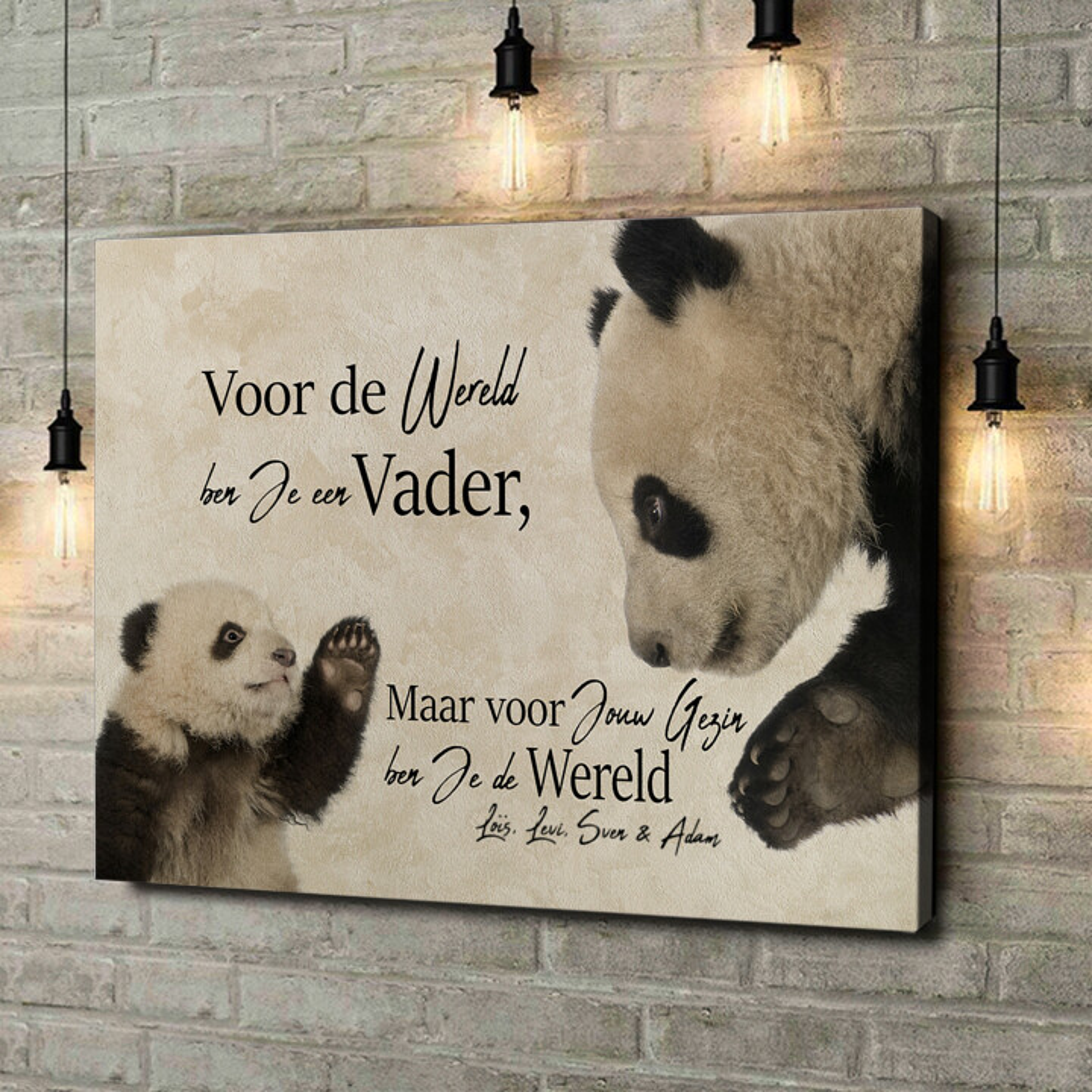 Gepersonaliseerde canvas print Pandavader