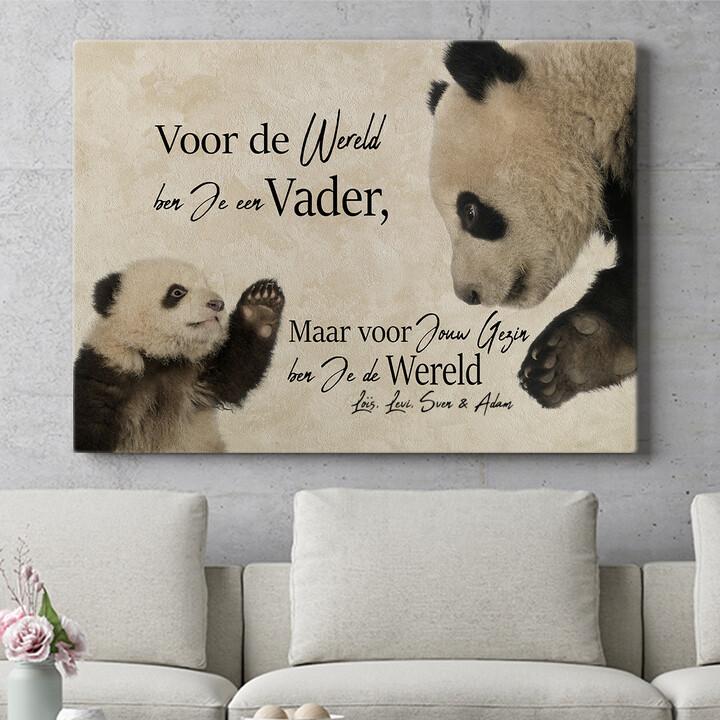 Personaliseerbaar cadeau Pandavader