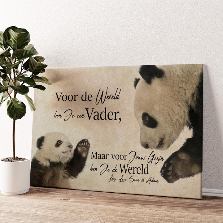 Pandavader Gepersonaliseerde muurschildering