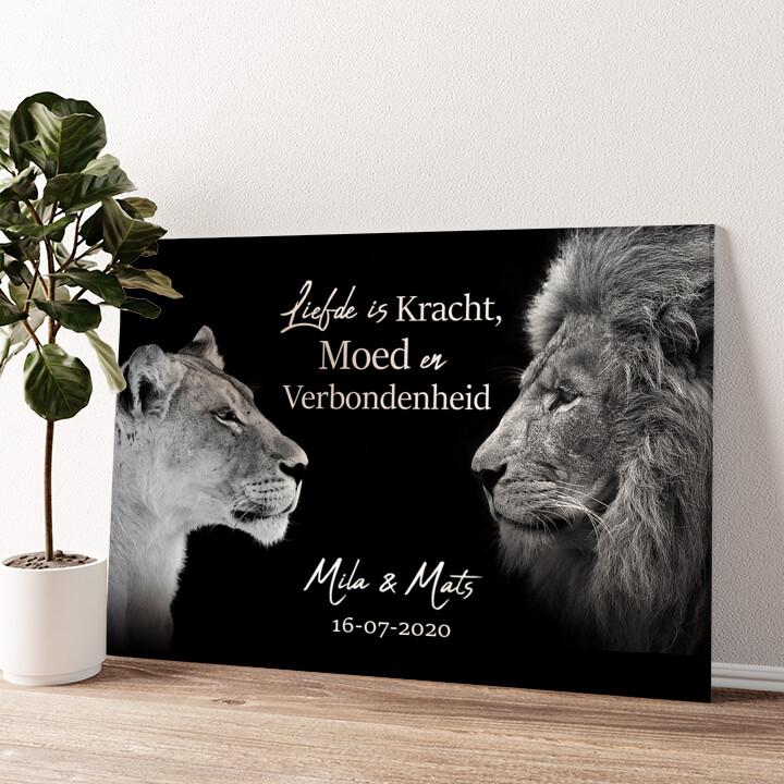 Koning & Koninging (Zwart) Gepersonaliseerde muurschildering