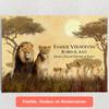 Gepersonaliseerde Canvas Leeuwenfamilie