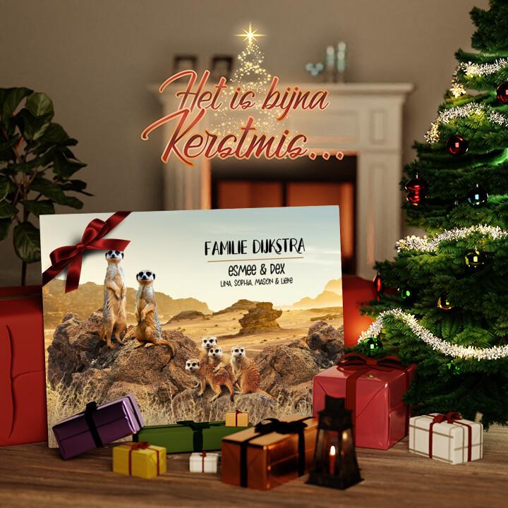 Canvas Cadeau Meerkat familie