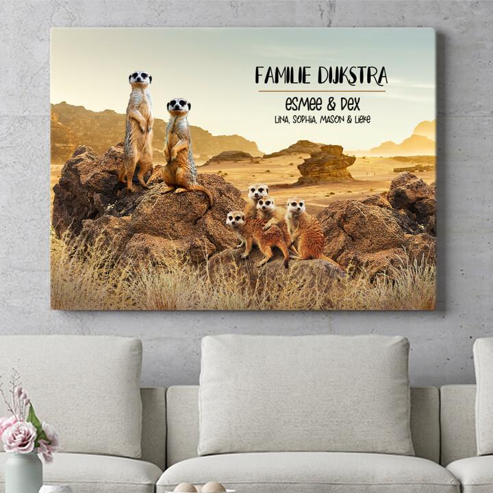 Personaliseerbaar cadeau Meerkat familie