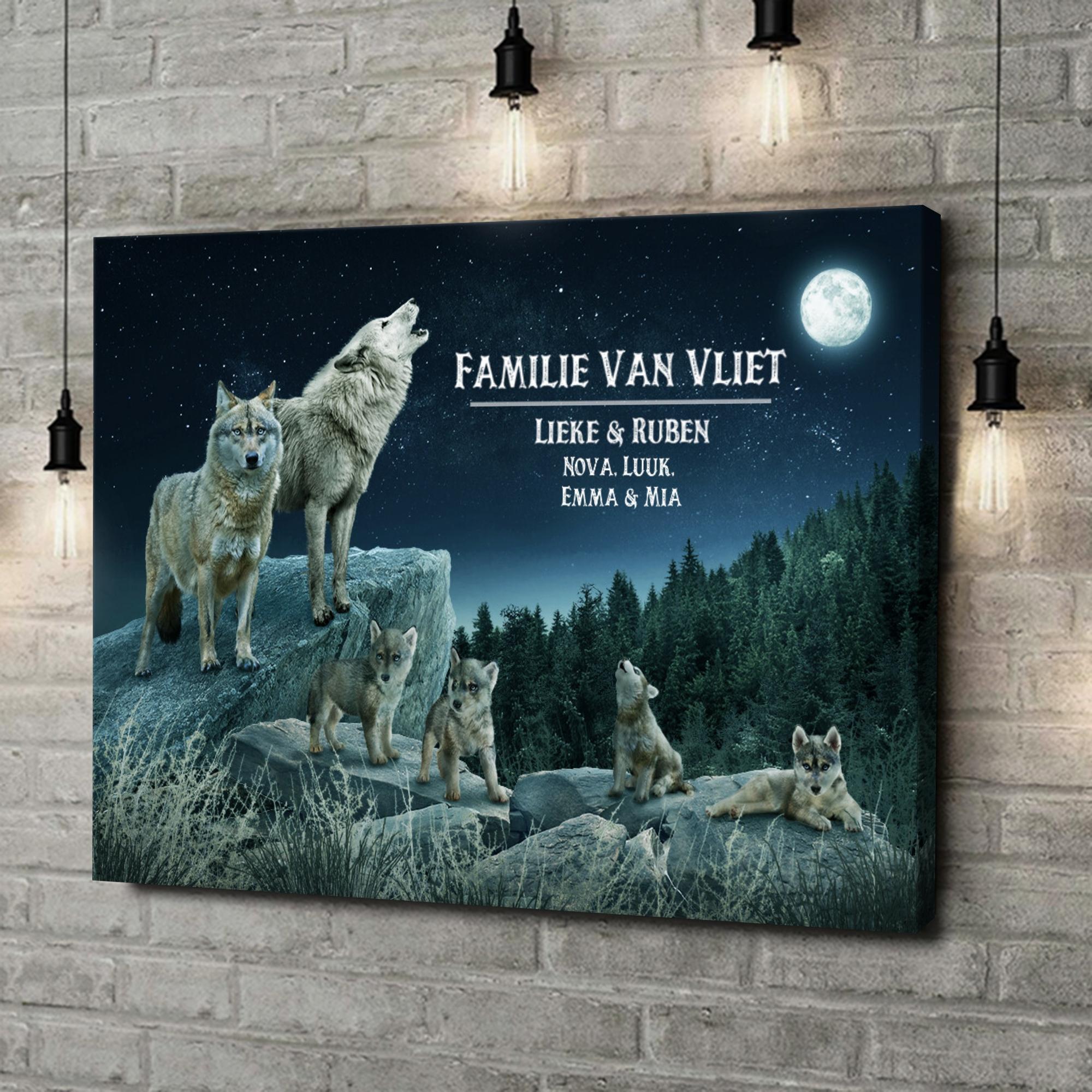 Gepersonaliseerde canvas print Wolfsroedel