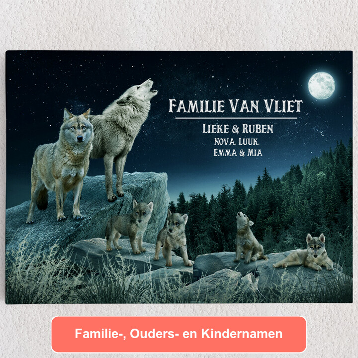 Gepersonaliseerde Canvas Wolfsroedel