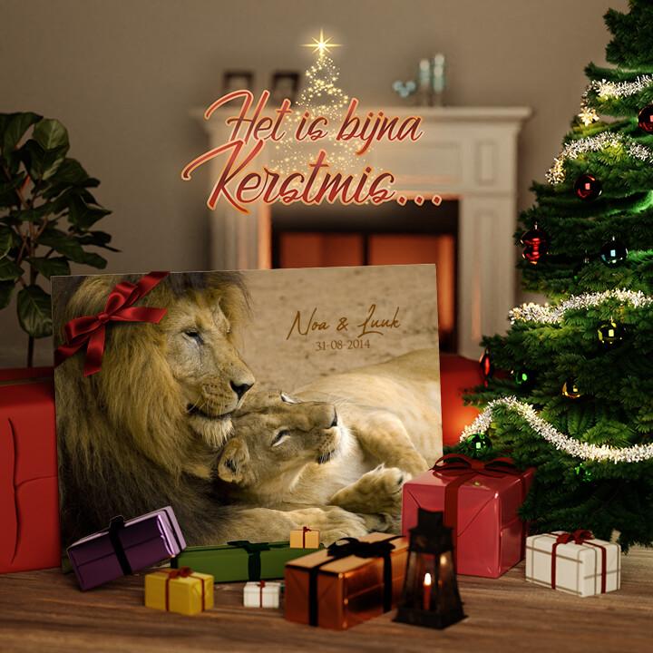 Canvas Cadeau Leeuwen Liefde
